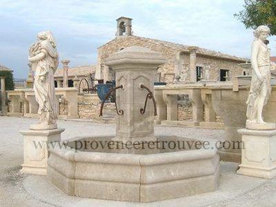 Provence Retrouvee - Fontaine centrale d'ext�rieur-Provence Retrouvee-Fontaine centrale diametre 252cm