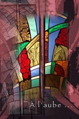 Atelier 1..2..3 vitrail - Vitrail-Atelier 1..2..3 vitrail-à l'aube...