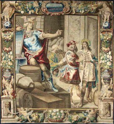 Galerie Hadjer - Tapisserie des Flandres-Galerie Hadjer-� ALL�GORIE DU COMMERCE�