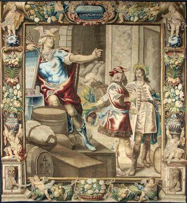 Galerie Hadjer - Tapisserie des Flandres-Galerie Hadjer-« ALLÉGORIE DU COMMERCE»