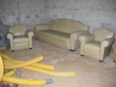 Fauteuil Club.com - Salon-Fauteuil Club.com-salon canapé + deux fauteuils club