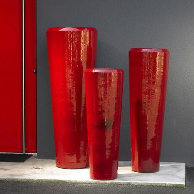 POTERIE GOICOECHEA - Vase grand format-POTERIE GOICOECHEA-Vase tube fabrication à la corde