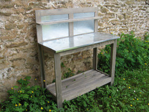 BARCLER - Table de rempotage-BARCLER-Table jardinage a dossier