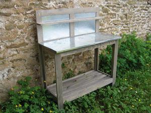BARCLER - Table de rempotage-BARCLER-Table jardinage a dossier