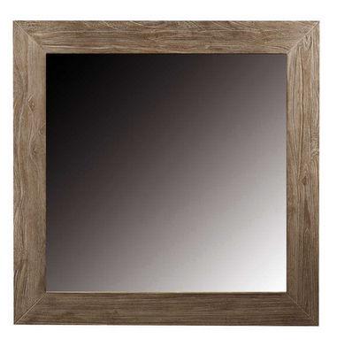 ZAGO - Miroir-ZAGO-Miroir carre en teck teinte