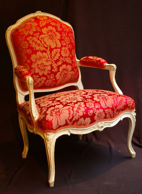 Philippe Vichot - Fauteuil-Philippe Vichot-Suite de quatre fauteuils Louis XV