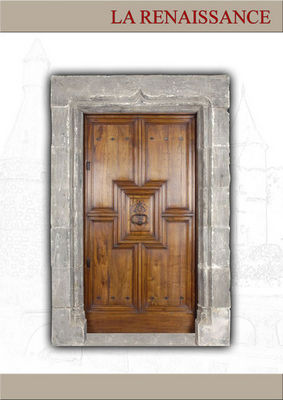 Portes Anciennes - Porte d'entrée pleine-Portes Anciennes-La Renaissance