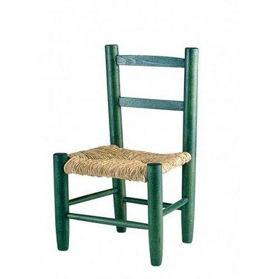 Aubry-Gaspard - Chaise enfant-Aubry-Gaspard-Vert foncé
