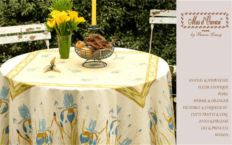 MAS D'OUSVAN Round tablecloth Tablecloths Table Linen Dining room | Cottage