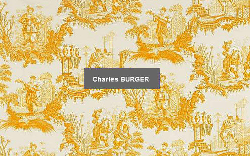 CHARLES BURGER & ISLE MILL Toile de Jouy print material Furnishing fabrics Curtains Fabrics Trimmings  |