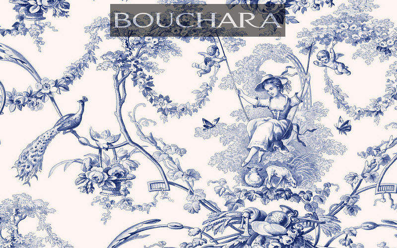Bouchara Toile de Jouy print material Furnishing fabrics Curtains Fabrics Trimmings  |