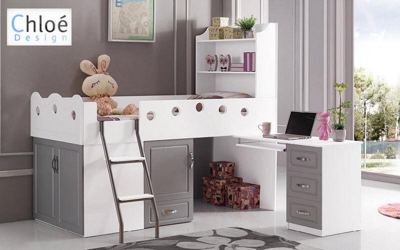 CHLOE DESIGN Mezzanine bed child Children's beddrooms Children's corner  |