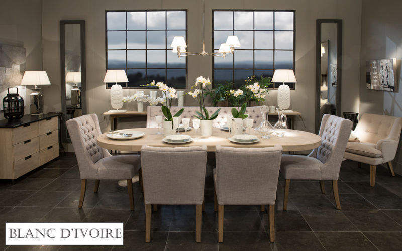 BLANC D'IVOIRE Oval dining table Dining tables Tables and Misc. Dining room | Contemporary