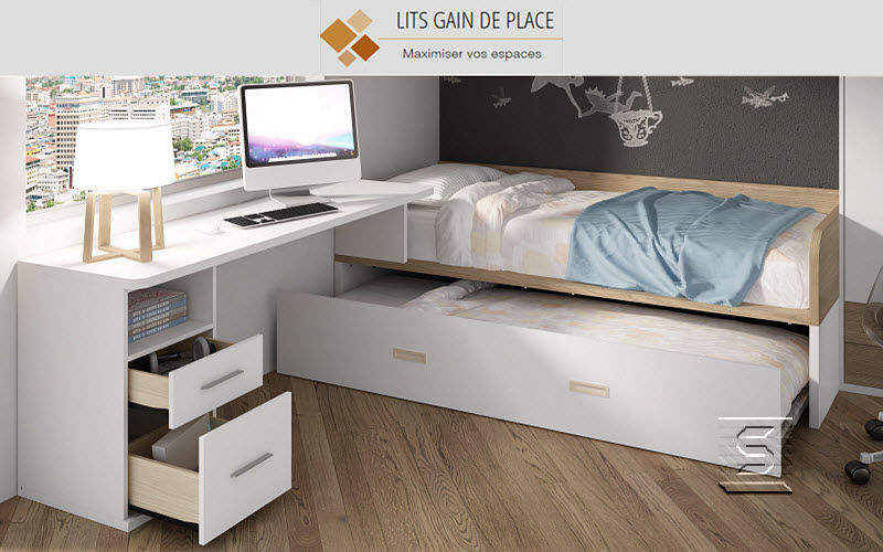 Idehabitat Trundle bed Single beds Furniture Beds   