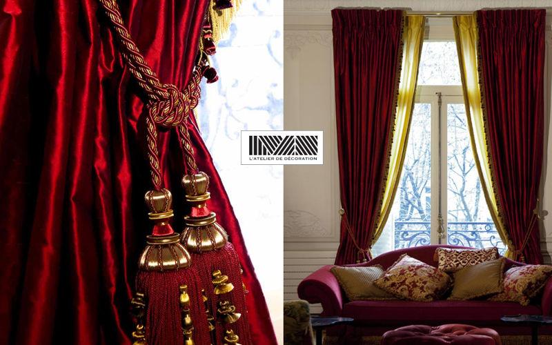 Maïte Mariana - L'Atelier de Décoration Double curtain Curtains Curtains Fabrics Trimmings  |