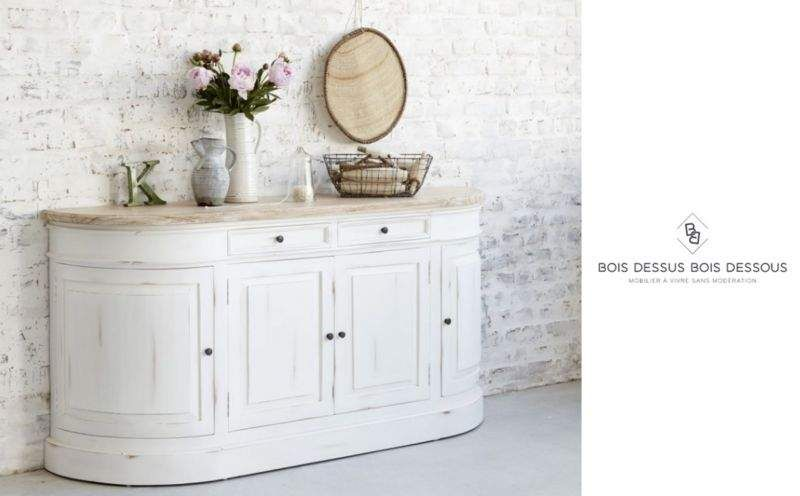 BOIS DESSUS BOIS DESSOUS Demilune commode Chest of drawers Storage  |
