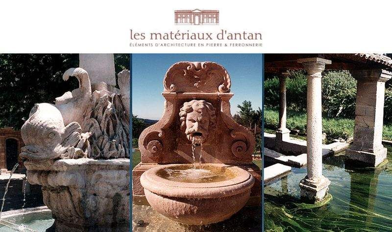 Les Materiaux D'Antan Wall fountain Fountains Garden Pots  |