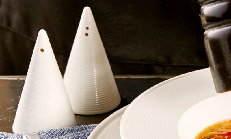 PORLAND PORCELAIN Saltcellar and pepperpot Condiments Tabletop accessories  |