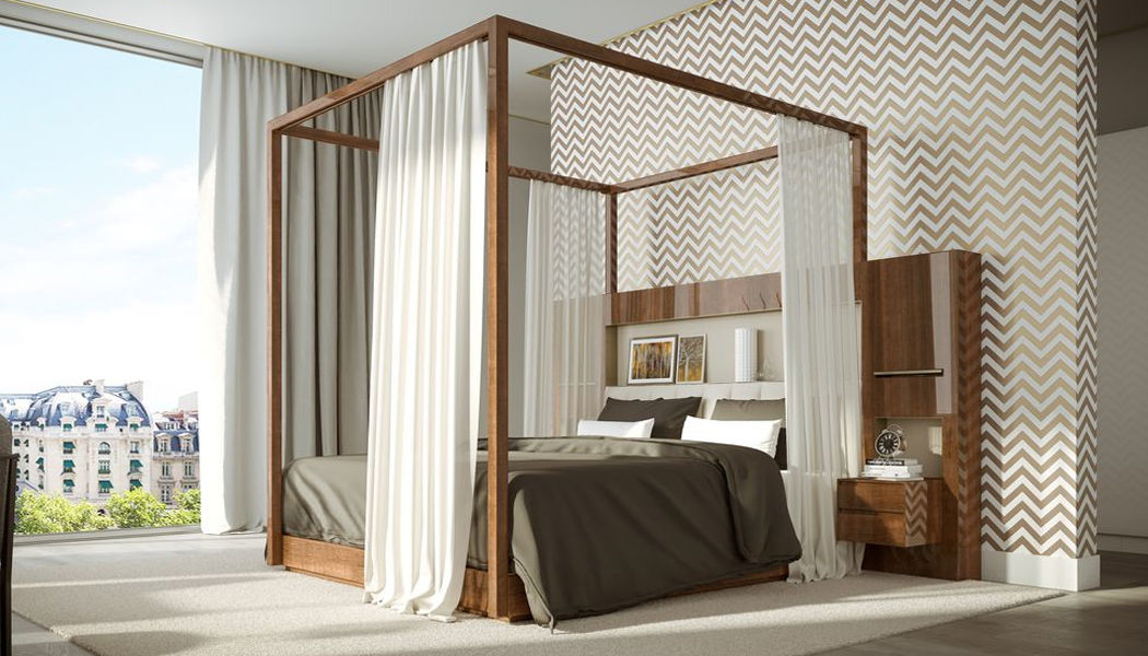 Hugues Chevalier Double canopy bed Double beds Furniture Beds  |