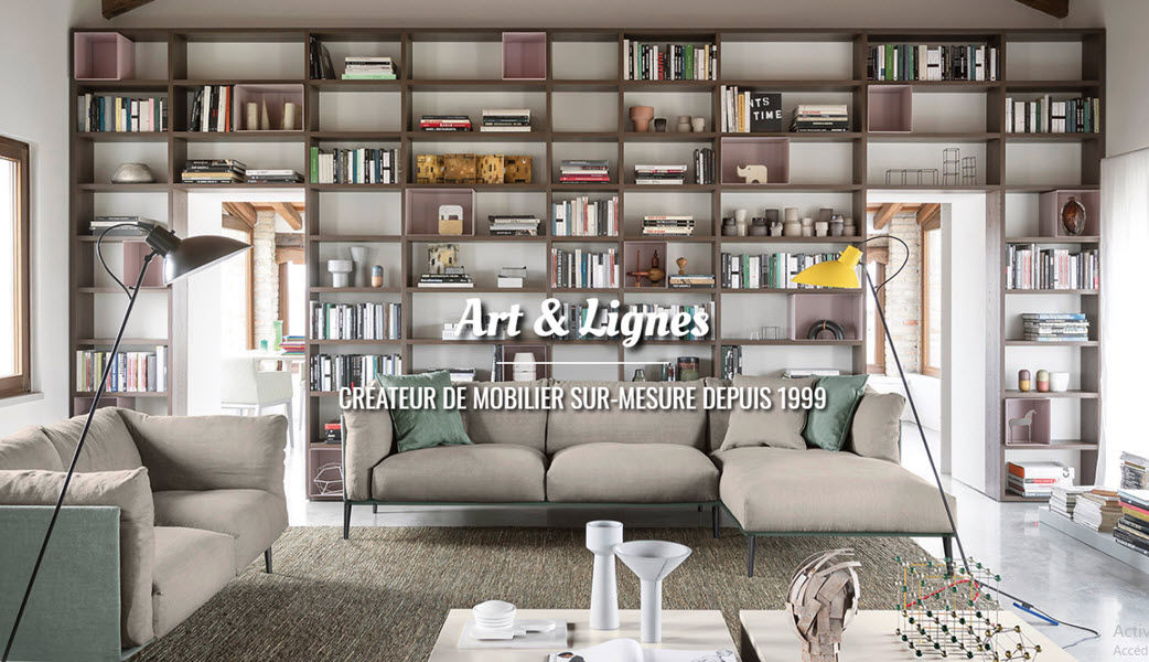 ART  & LIGNES Open bookcase Bookcases Storage  |
