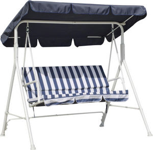 HEVEA - balancelle pour jardin en acier exklusive bleu - Swinging Chair