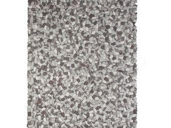 WHITE LABEL - tapis 180 x 120 cm - galets - l 180 x l 120 - lain - Modern Rug