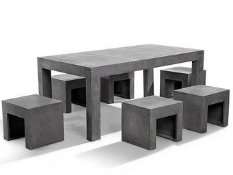 BELIANI - meubles en b�ton - Outdoor Dining Room