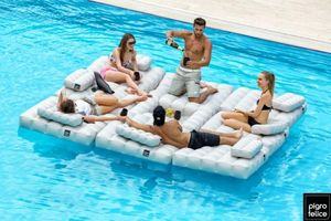 Pigro Felice Inflatable pool lounger