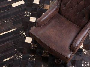 Beliani Leather rug