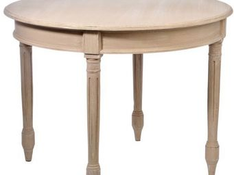 J-line - table repas ronde baroque antica - Round Diner Table