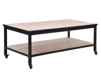 J-line - table basse � roulettes midtown - Coffee Table With Casters