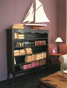 BLEU PROVENCE - vintage noir - Open Bookcase