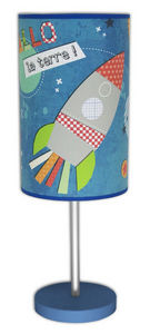 Art et Loupiote - fusée - Children's Table Lamp