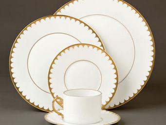 L'OBJET - aegean filet gold dinnerware - Dinner Plate