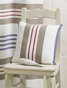 HOMEMAISON.COM - coussin tissé teint rayures horizontales - Square Cushion