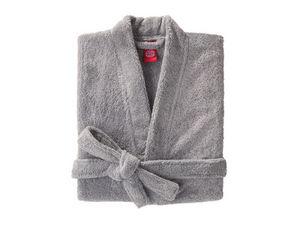 BLANC CERISE - peignoir col kimono - coton peigné 450 g/m² gris - Bathrobe