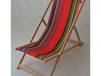 Les Toiles Du Soleil - chilienne tangerine - Deck Chair