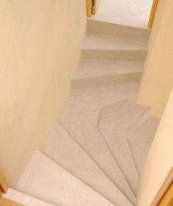 Rouviere Collection - escalier en béton ciré - Ground Waxed Concrete