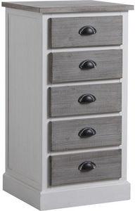 Aubry-Gaspard - commode en pin et medium maryse - Bathroom Single Storage Cabinet