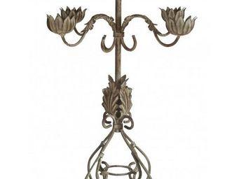 L'HERITIER DU TEMPS - chandelier 5 bougeoirs 53cm - Candelabra
