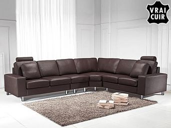 BELIANI - sofa en cuir - Adjustable Sofa