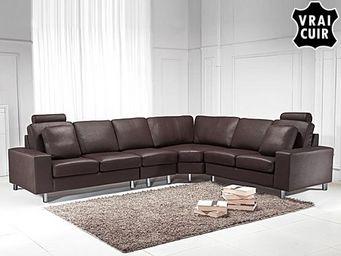 BELIANI - sofa en cuir - Adjustable Sofa
