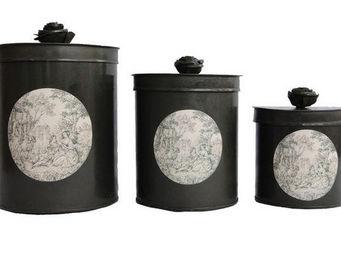 Coquecigrues - ensemble de 3 boites galantes gris - Decorated Box