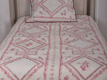Coquecigrues - jet� de lit fortuna + 1 taie d'oreiller - Bedspread