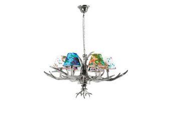 Kare Design - lustre antler flowers 6 bras - Hanging Lamp