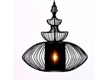 Kare Design - suspension swing iron oval - Hanging Lamp