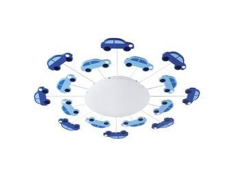Eglo - applique/plafonnier enfant viki 1 bleu - Children's Bedside Light