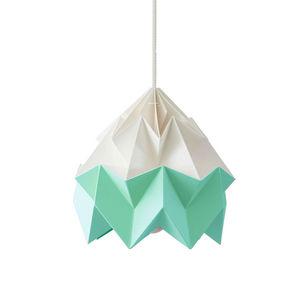 SNOWPUPPE - moth - suspension papier bicolore blanc/menthe ø20 - Hanging Lamp