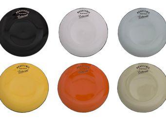 Antic Line Creations - assiettes à dessert colorées (par 6) taille 2 - Dessert Plate