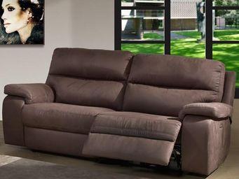 WHITE LABEL - canapé relax électrique 3p - acbar - l 214 x l 94 - 2 Seater Sofa